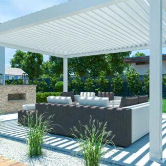 Bioklimatische Aluminium-Lamellendächer