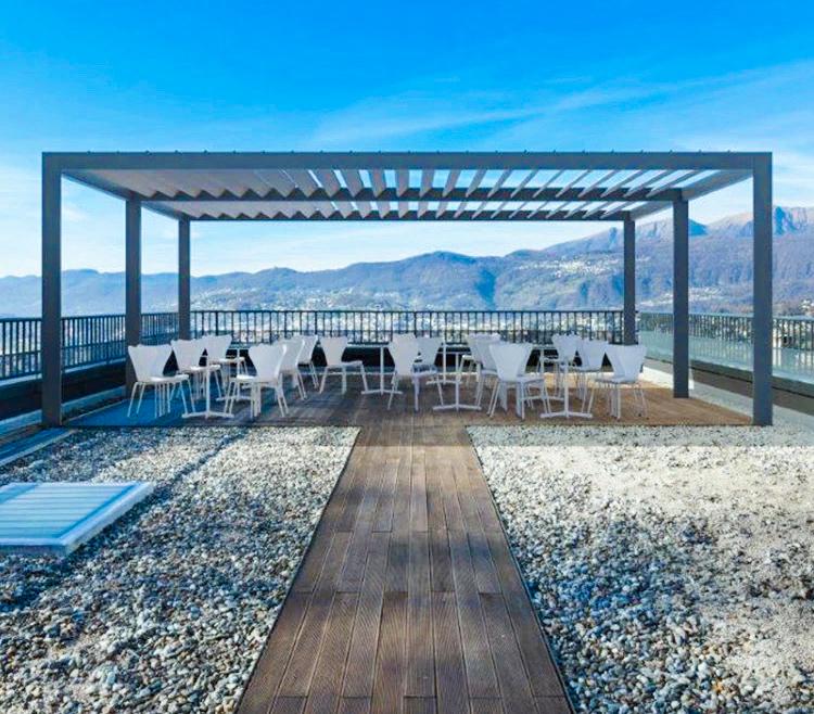 Pergola Lamellendach für den Außeneinsatz