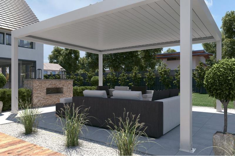 Lamellendach-Außenbereich