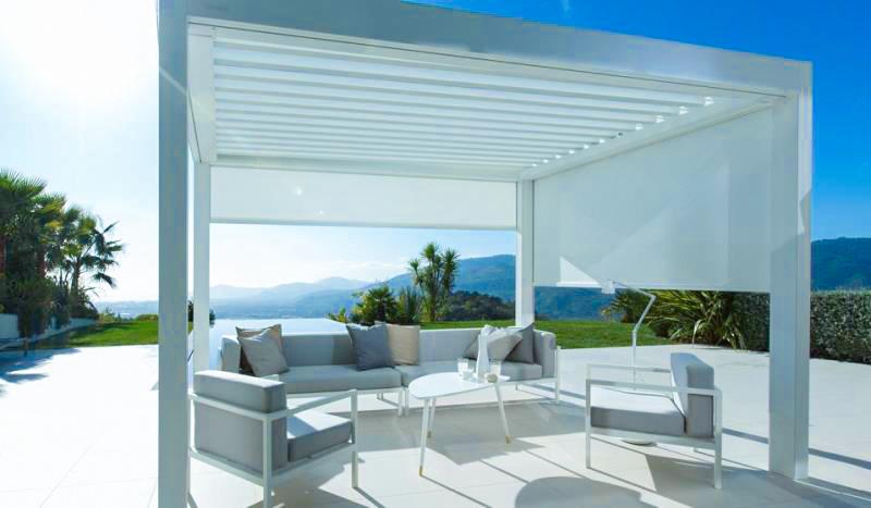Das Lamellendach ideal zum Verweilen im Sommer