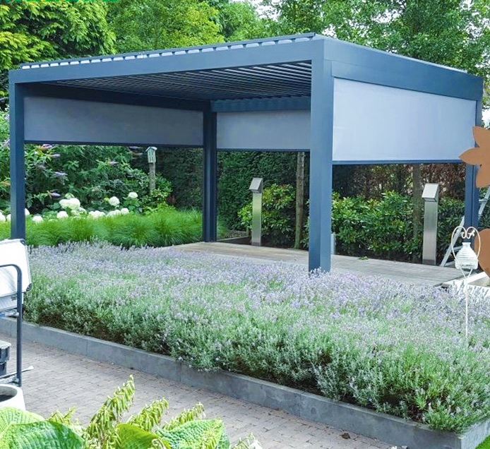 Großes Lamellendach für den Garten