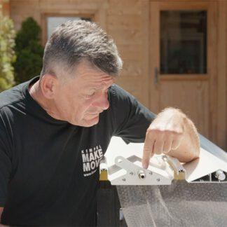 Lamellendach Abdeckplatten vorbereiten