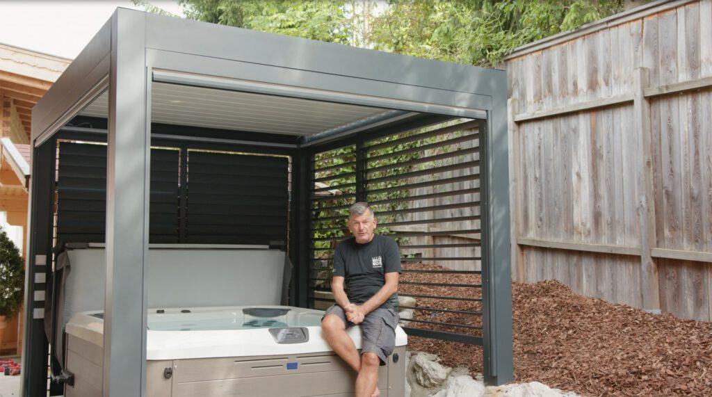 Lamellendach Aufbau mit Mark Kühler