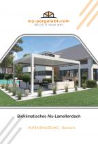 Alu-Lamellendach Aufbauanleitung von my-pergola24.com