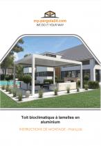 Instructions de montage toit a lamelles - my-pergola24